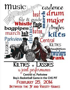 Kiltie + Lassie Joint Performance ~ February 25, 2014